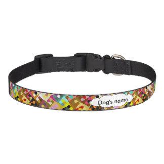 Collar Para Mascotas Diseño colorido del extracto de las formas