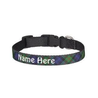 Collar Para Mascotas El nombre de mascota del personalizar del tartán