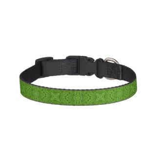 Collar Para Mascotas El verde que iba tejó los cuellos de perro