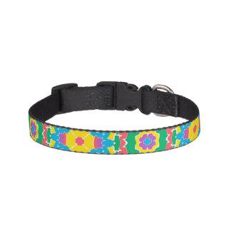 Collar Para Mascotas Impresión multicolora geométrica