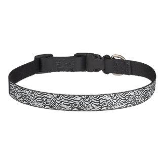 Collar Para Mascotas La cebra media raya el cuello de perro del
