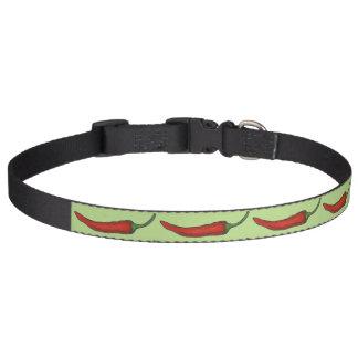 Collar Para Mascotas La pimienta de chiles picante candente del chile