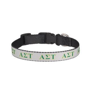 Collar Para Mascotas Letras amarillas y verdes del Tau alfa de la sigma