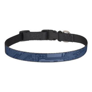 Collar Para Mascotas Modelo azul del circuito de la placa madre del