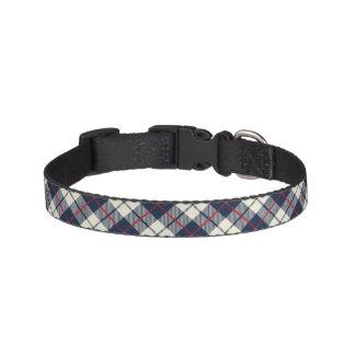 Collar Para Mascotas Modelo de la tela escocesa de los azules marinos