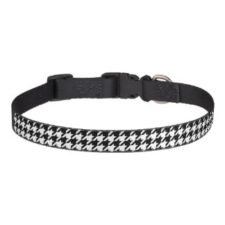 Collar Para Mascotas Modelo que teje clásico de Houndstooth