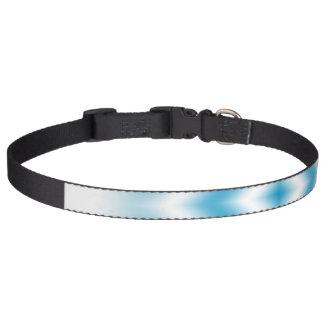 Collar Para Mascotas pendiente azul del diamante del Personalizar-cielo