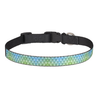 Collar Para Mascotas Perro de la flor de lis o cuello azul y verde del
