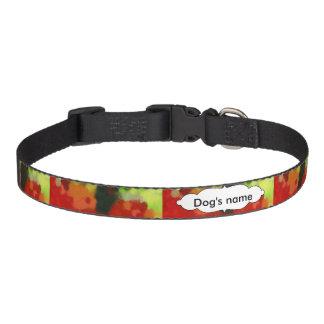 Collar Para Mascotas Pintura verde roja