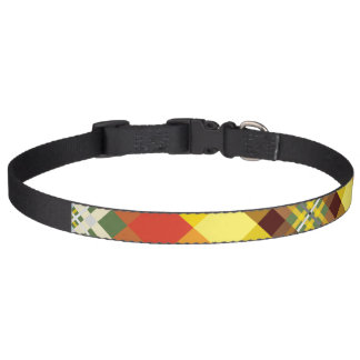 Collar Para Mascotas Tela escocesa/tartán - 'Sunflower