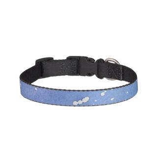 Collar Para Mascotas Watercolour de mármol azul Splat