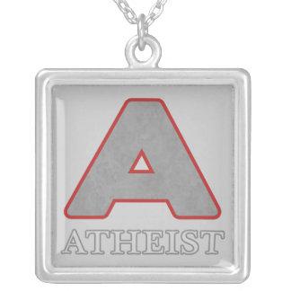 """Collar pendiente gris y rojo del ateo """"A"""""""