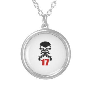 Collar Plateado 17 diseños del cumpleaños