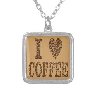 Collar Plateado Amo el café