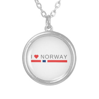 Collar Plateado Amo Noruega