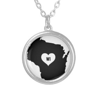Collar Plateado Amor de Wisconsin