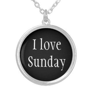 Collar Plateado Amor domingo del Collar-Yo
