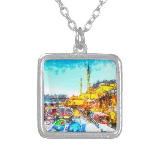 Collar Plateado Arte de Estambul Turquía