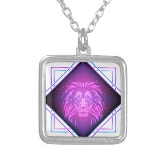 Collar Plateado Arte del león