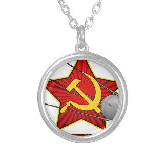 Collar Plateado Arte del poster de Спутник Sputnik