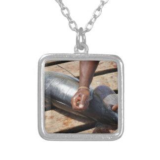 Collar Plateado atún amarillo de las aletas