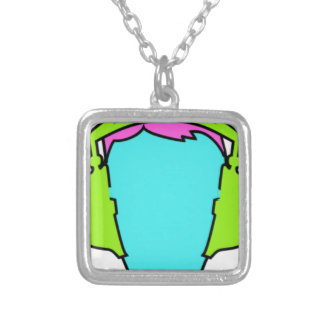 Collar Plateado Auriculares que llevan coloridos