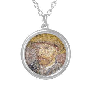 Collar Plateado Autorretrato con un gorra de paja - Van Gogh