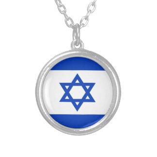 Collar Plateado ¡Bajo costo! Bandera de Israel