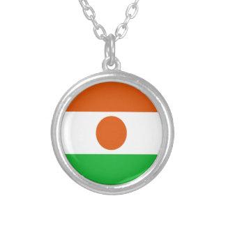 Collar Plateado ¡Bajo costo! Bandera de Niger