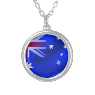 Collar Plateado Bandera australiana