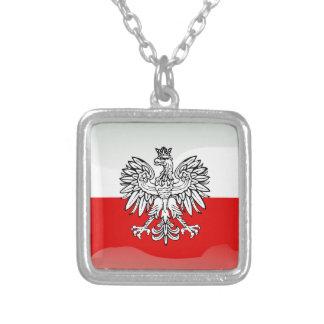 Collar Plateado Bandera brillante polaca