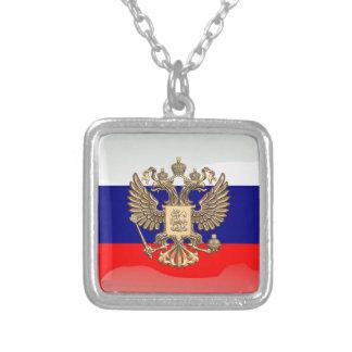 Collar Plateado Bandera brillante rusa