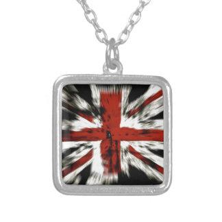 Collar Plateado Bandera británica