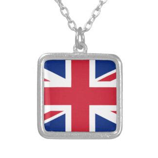 """Collar Plateado Bandera BRITÁNICA """"Union Jack """" de Reino Unido del"""