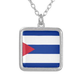 Collar Plateado Bandera cubana - Bandera Cubana - bandera de Cuba