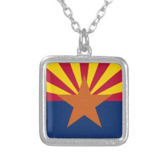 Collar Plateado Bandera de Arizona