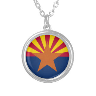 Collar Plateado Bandera de Arizona