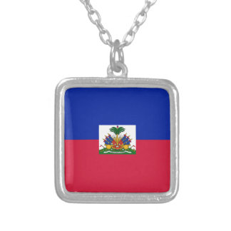 Collar Plateado Bandera de Haití