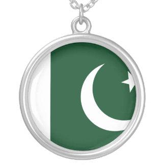 Collar Plateado Bandera de Paquistán