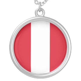 Collar Plateado Bandera de Perú