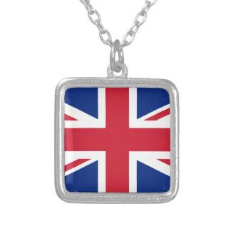 Collar Plateado Bandera de Reino Unido