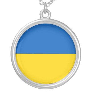 Collar Plateado Bandera de Ucrania