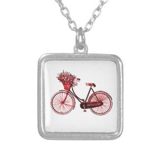 Collar Plateado Bicicleta 2