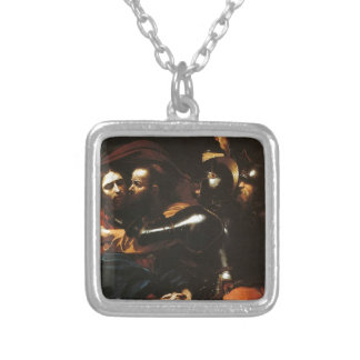 Collar Plateado Caravaggio - el tomar de Cristo - ilustraciones