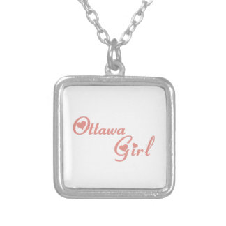 Collar Plateado Chica de Ottawa
