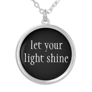 Collar Plateado Collar-Deje su brillo ligero