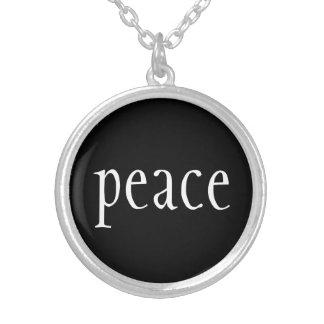 Collar Plateado Collar-Paz
