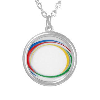 Collar Plateado Colores de Google