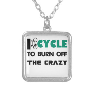 Collar Plateado Completo un ciclo para consumir el loco, bicicleta