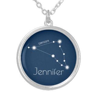 Collar Plateado Constelación personalizada del zodiaco del